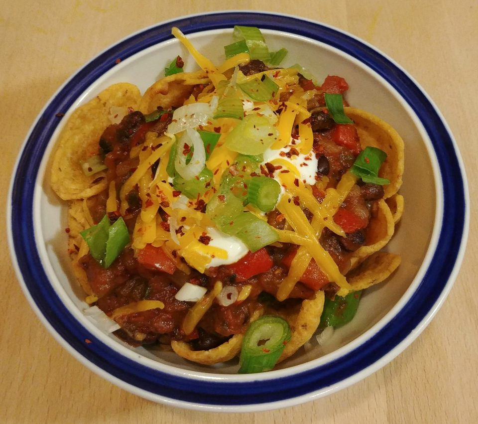 black bean frito pie vegetarian janes addiction