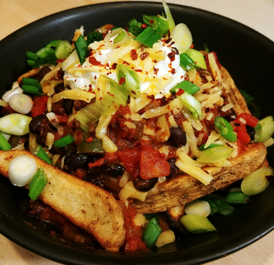 loaded fries black bean chili cheddar sour cream aerosmith lord of the fries