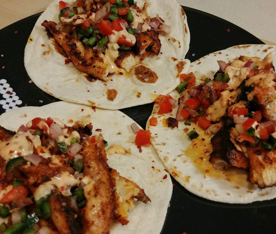 tilapia taco salsa remoulade r.e.m.