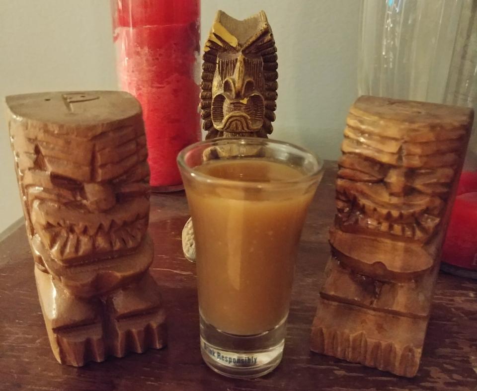 ginger shot juniper syrup orange bitters