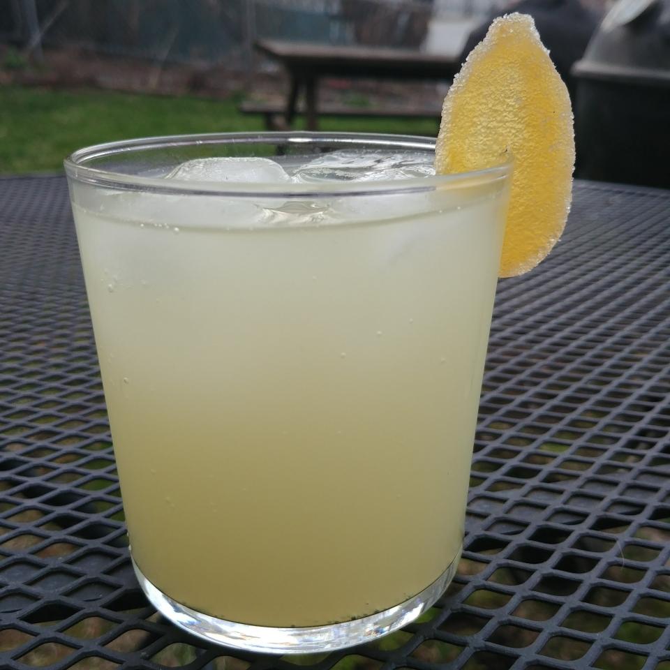 cold brewed lime ginger syrup Hudson Standard Ginger bitters seltzer