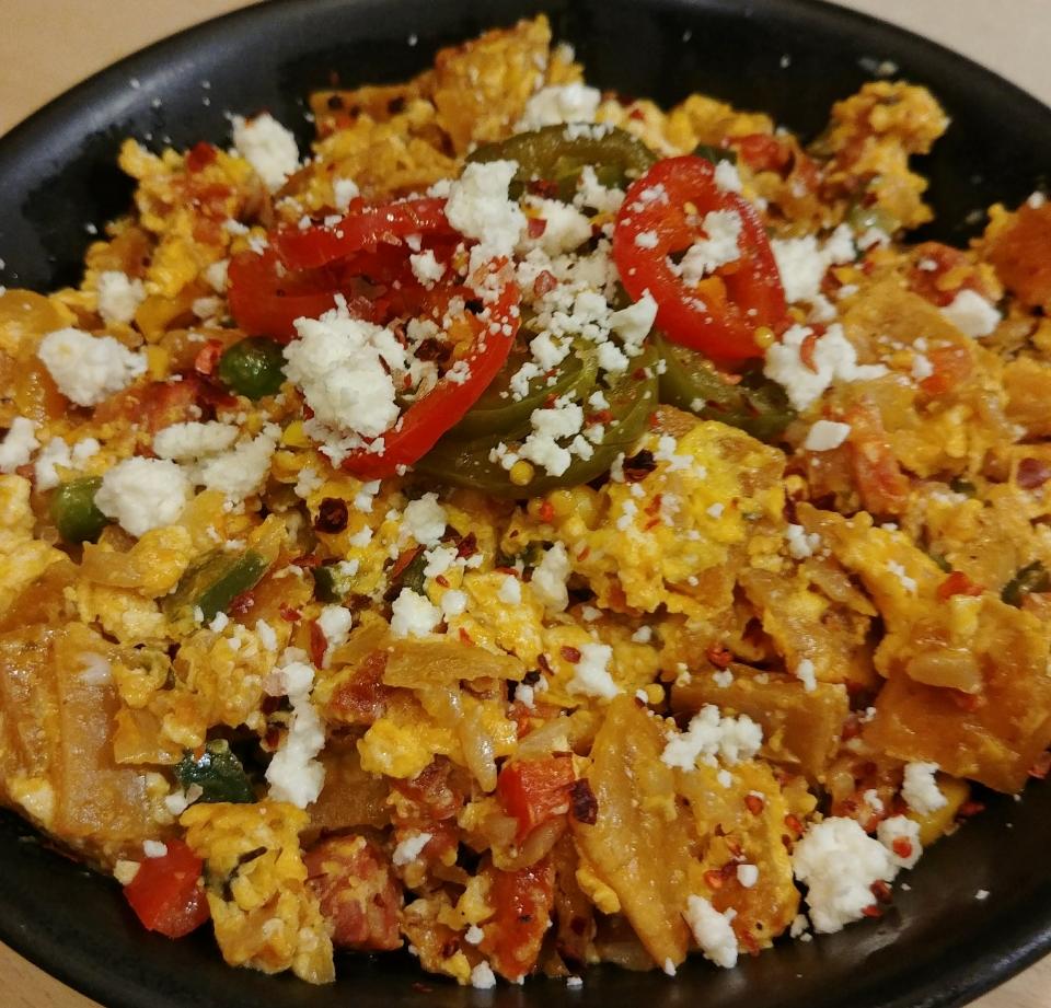 migas eggs tortilla pico de gallo fried rice migos