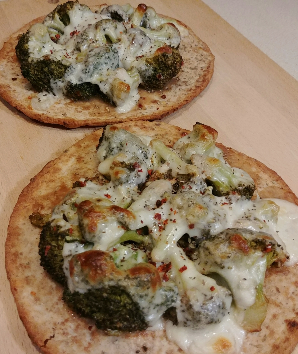 broccoli melt mozzarella pecorino flatbread modern english