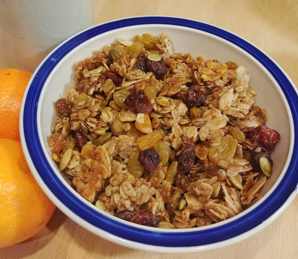 granola golden raisins oats almonds pepitos sunflower seeds neil diamond
