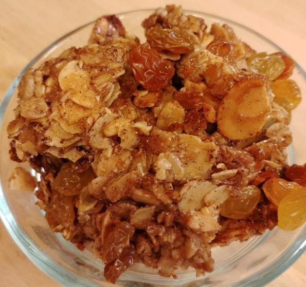 granola golden raisins oats almonds pepitos sunflower seeds neil diamond