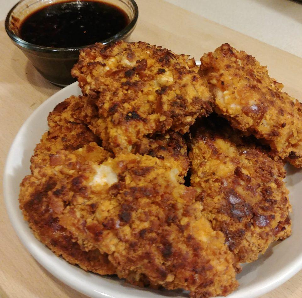 chicken tenders szechuan sauce pretzel coated otis redding