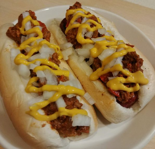 detroit coney island hot dog chili mustard onions kiss