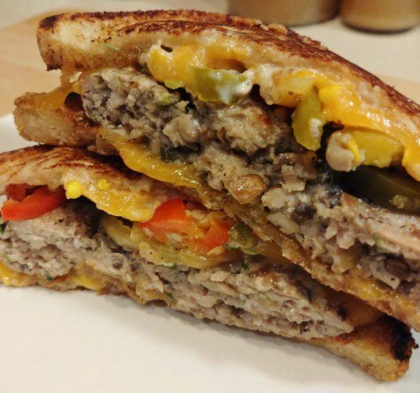 turkey melt sandwich cheese burger ramonee gabba gabba hey