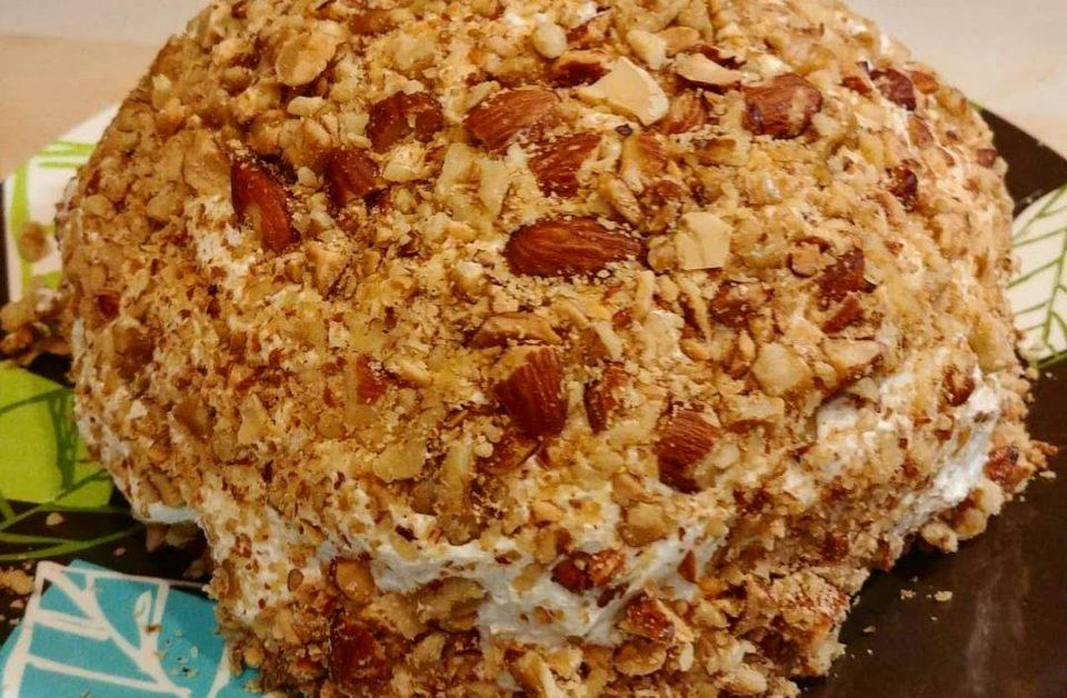 the turducken of cheeseballs - pimento manchego emmentaler gorgonzola goat cheese chorizo dates nuts