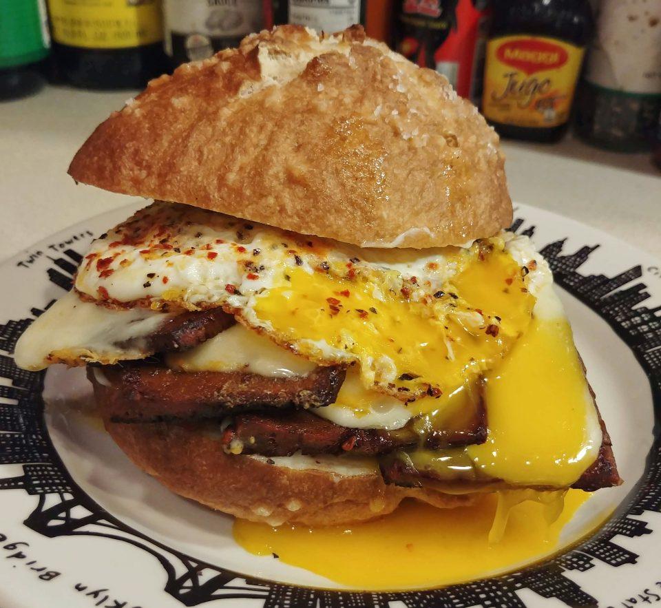 fried egg seitan chorizo muenster cure