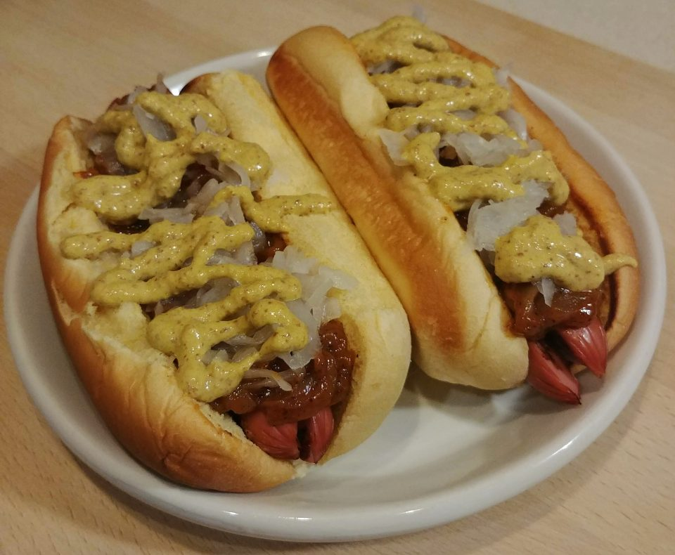 new york hot dog onion sauce sauerkraut spicy mustard beastie boys