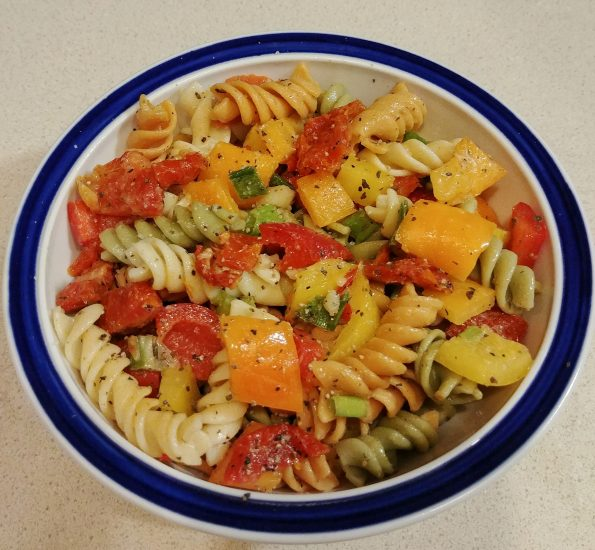 pasta salad peppers sundried tomato pastaman bob marley