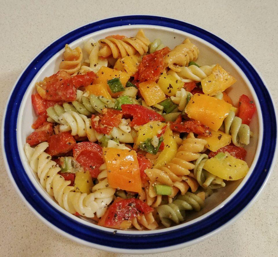pasta salad peppers sundried tomato pastaman bob marley