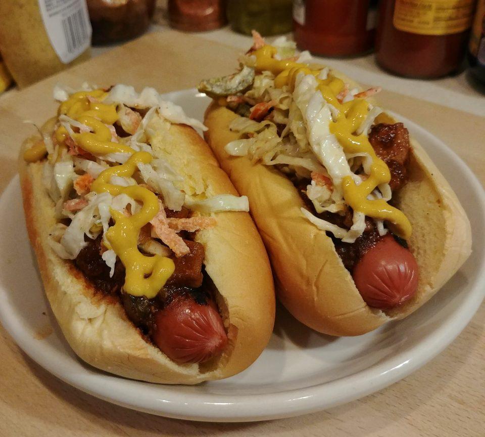 carolina slaw dog meat chili creamy slaw yellow mustard ben folds five
