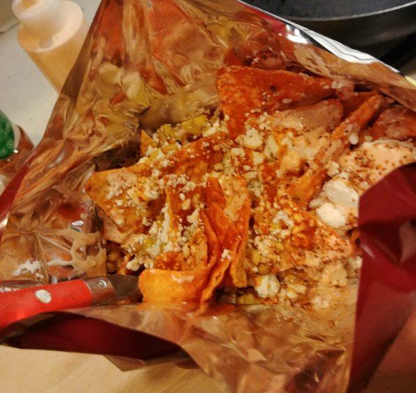 dorielotes doritos corn cotija taco sauce valentina tajin