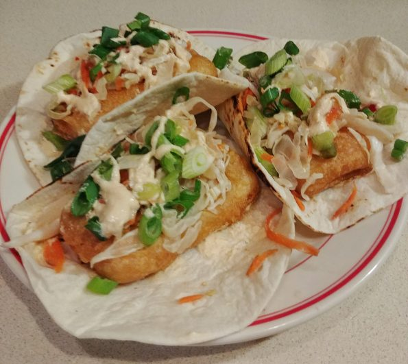 batter friedn tofu slaw sambel cashew sauce joy division