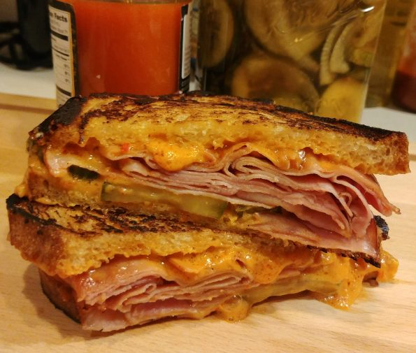 grilled cheese pimento cheese ham pickles rolling stones