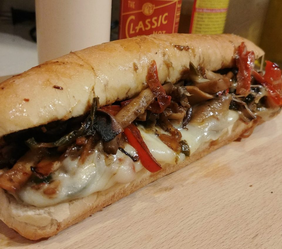 mushroom melt provolone peppers onions offspring