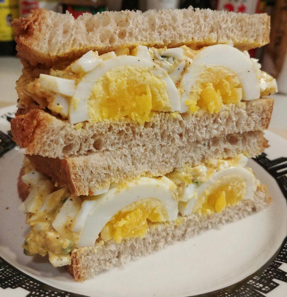 egg salad pimento cheese dijon yolko john yoko beatles