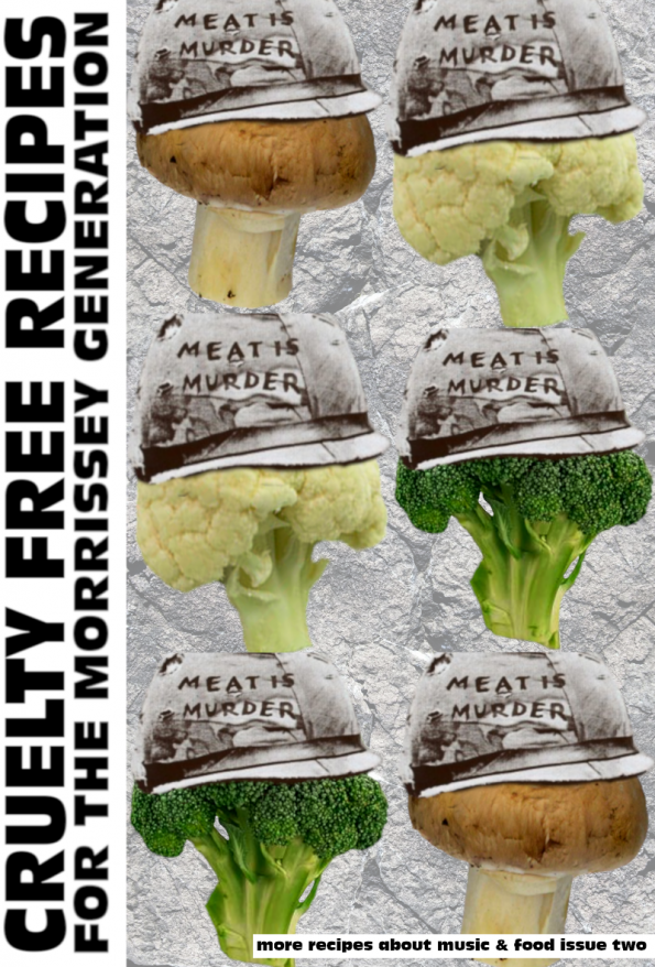 meat is murder vegetarian recipe zine