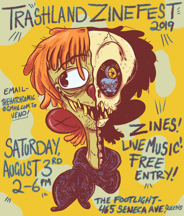 trashland zinefest at foorlight bar in queens ny august 3