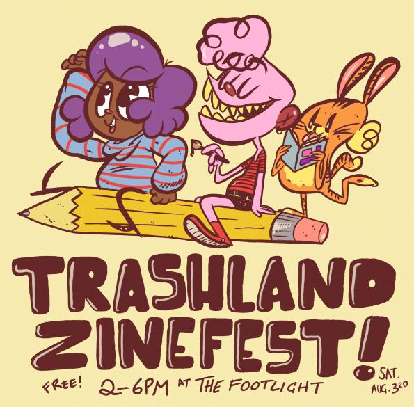 trashland zinefest at footlight bar queens new york august 3