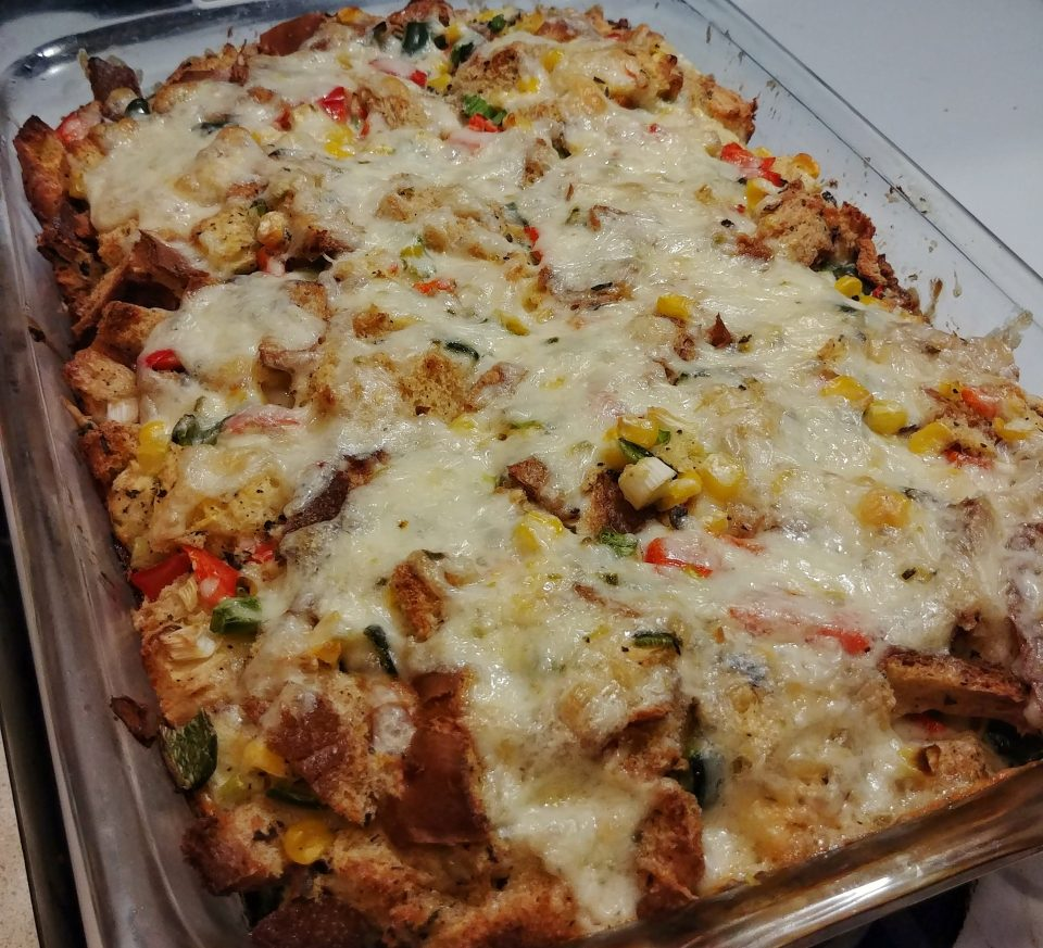 freestyle bread pudding savoy mexican corn peppers freestylers