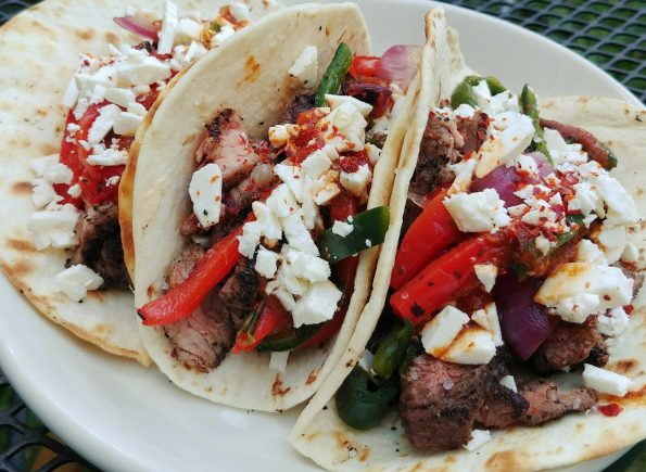 blank flank steak tacos chipotle grilled peppers eno