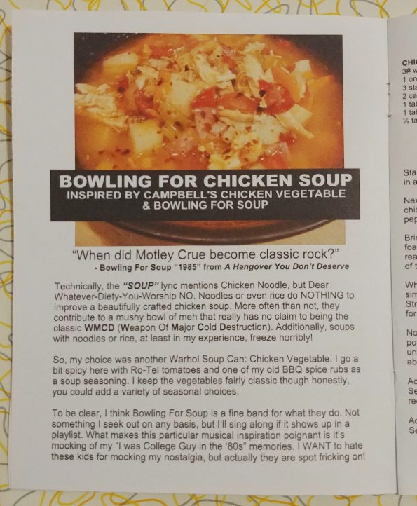 bowling for chicken soup vegetable