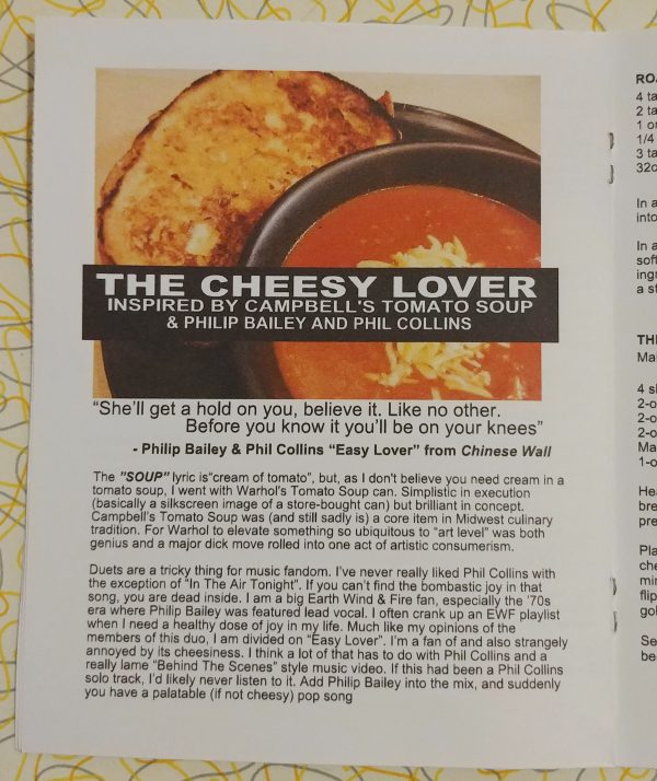 the cheesy lover roasted tomato soup grilled cheese phil collins philip bailey vegetarian