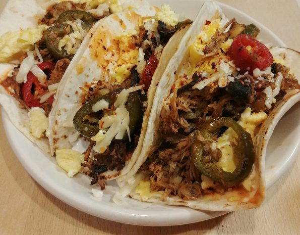 mojo pork breakfast tacos peach kings