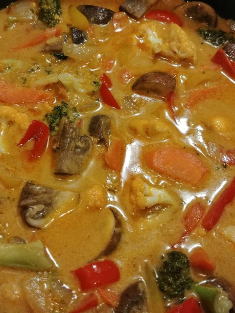 vegetable curry in the pot
