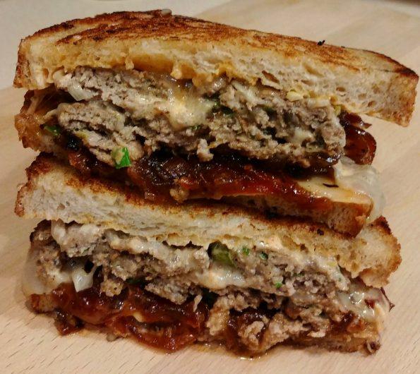turkey mushroom patty melt remoulade tomato onion jam ramones