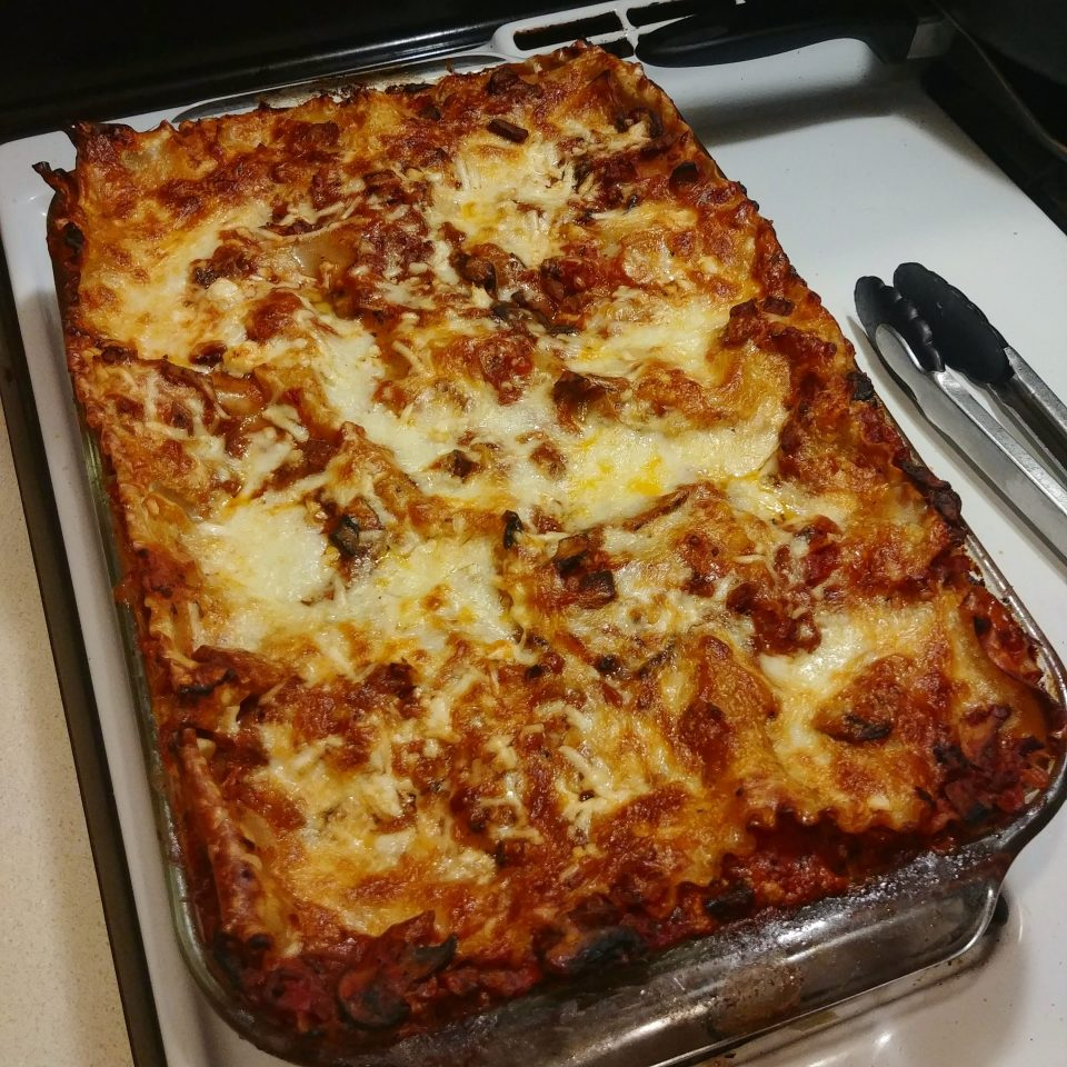 seitan mushroom lasagna INXS