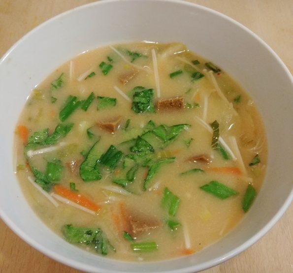 miso soup spicy seitan fugees