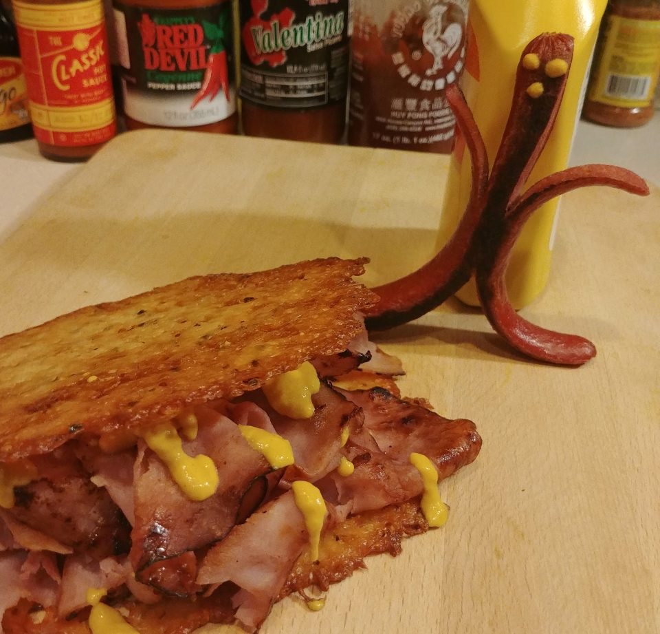 hot dog pepperjack crisp fried ham beatles