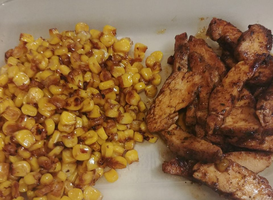 sesame fried corn sriracha chicken