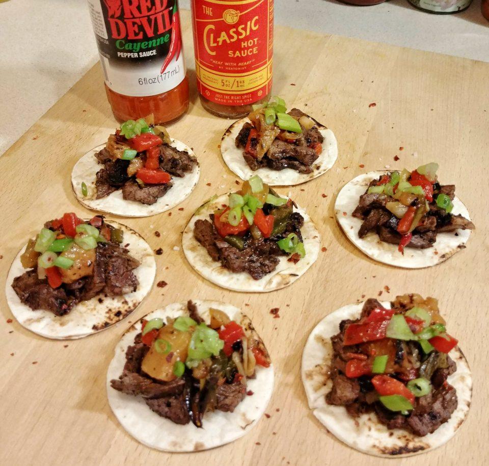 mini skirt steak tacos coofe marinade java jive equivel