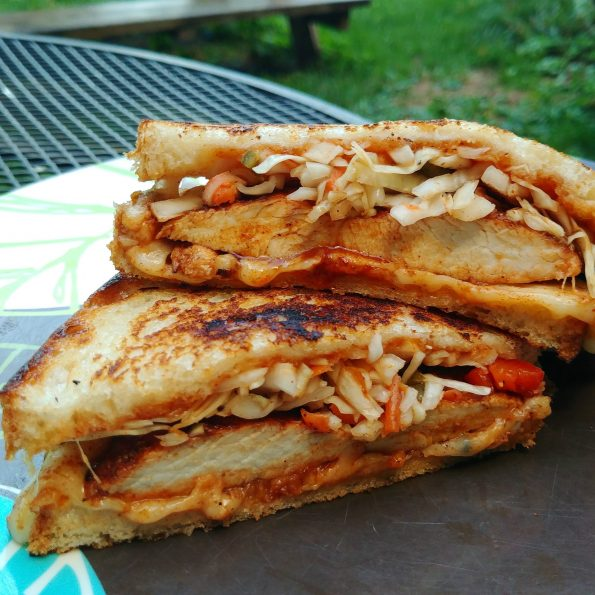 bbq chicken pickle slaw sweet lightnin sauce melt muenster replacements