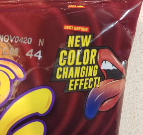 color changing takis