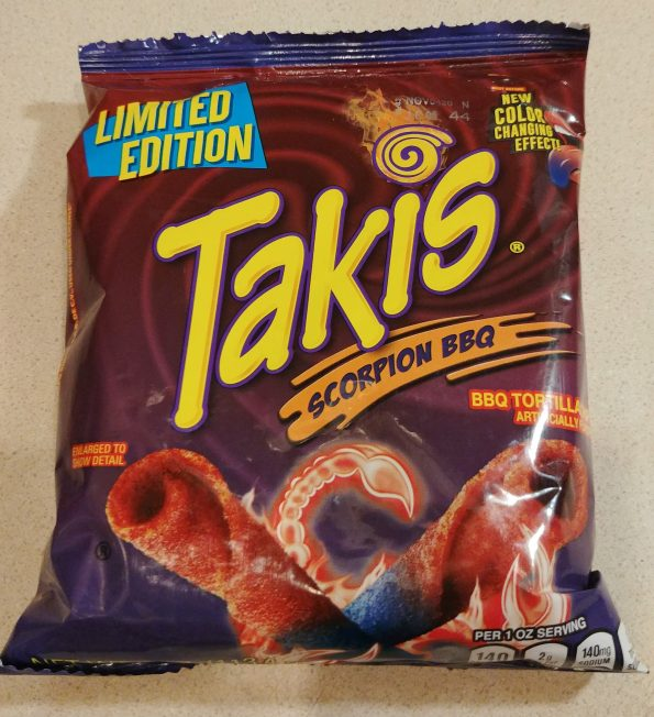 takis scorpion bbq color changing