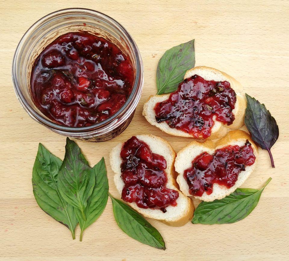 basil strawberry jam mc5