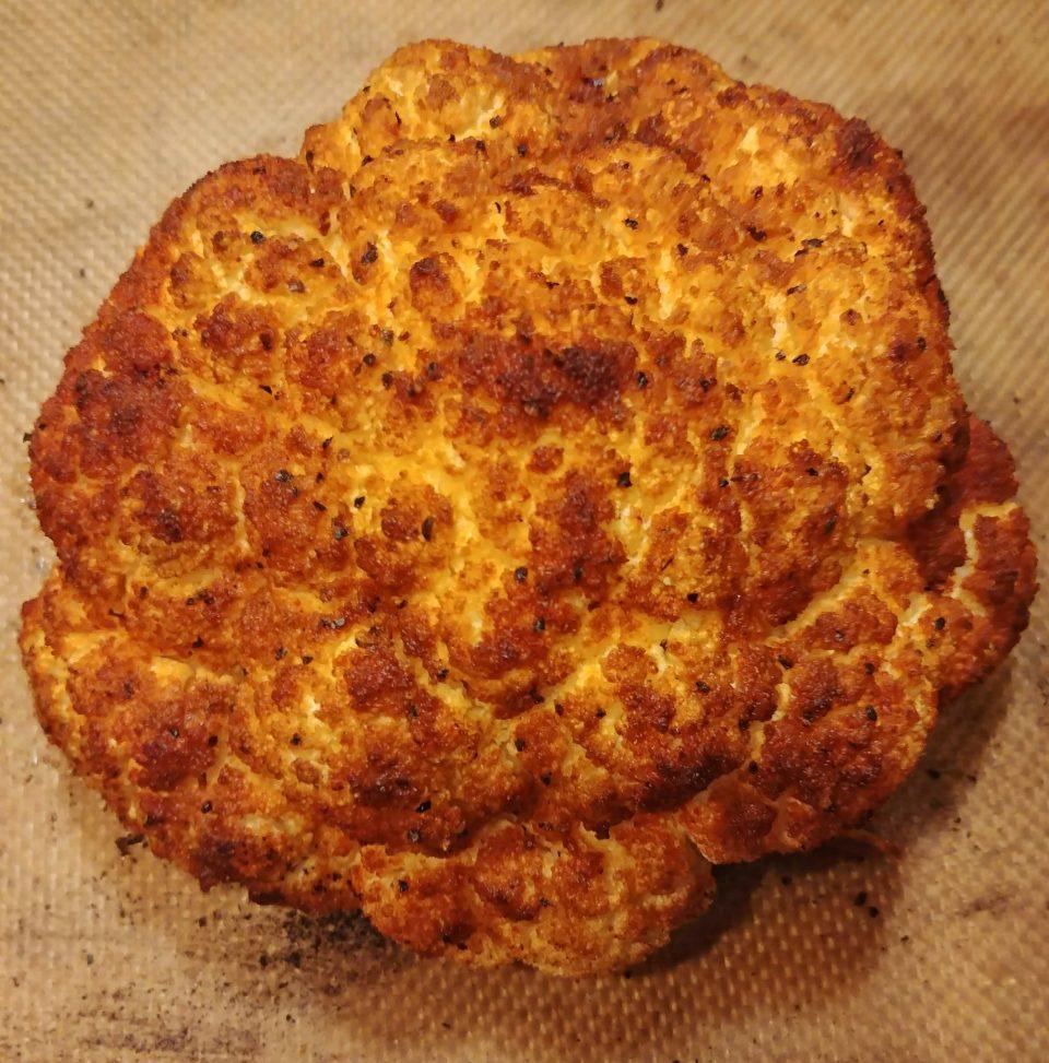 buffalo spice roasted cauliflower