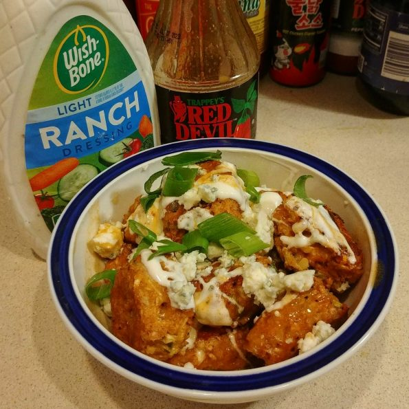 cauliflower tots buffalo sauce ranch dressing blue cheese marlene shaw
