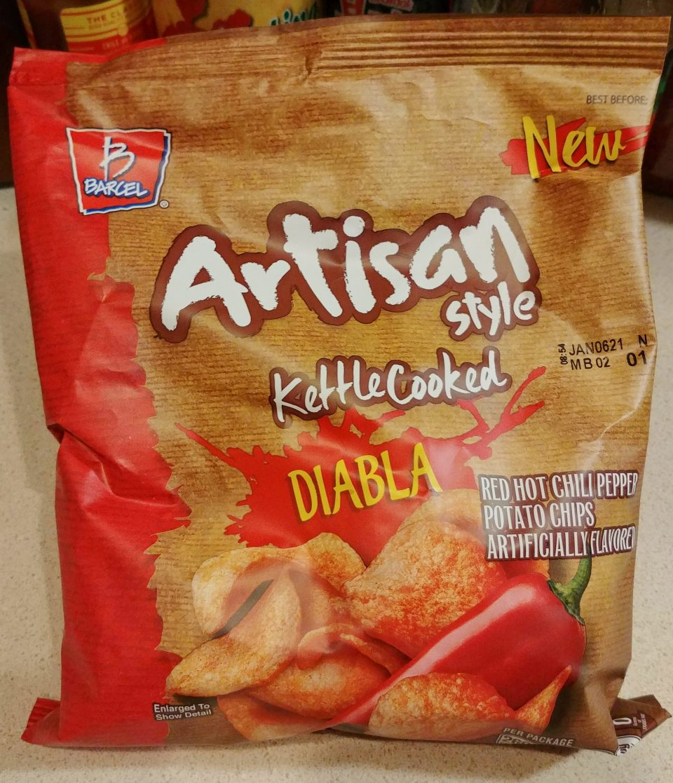 barcel artisan red hot chili pepper kettle cooked chips