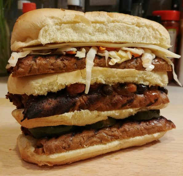 stackwich hot dogs beans slaw cheese vintage recipe
