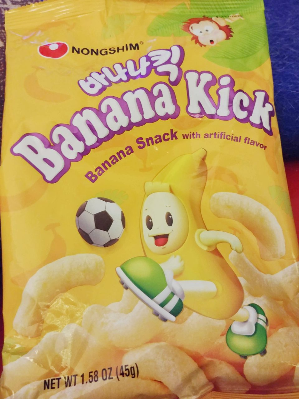 nongshim banana kick puffs snacking here