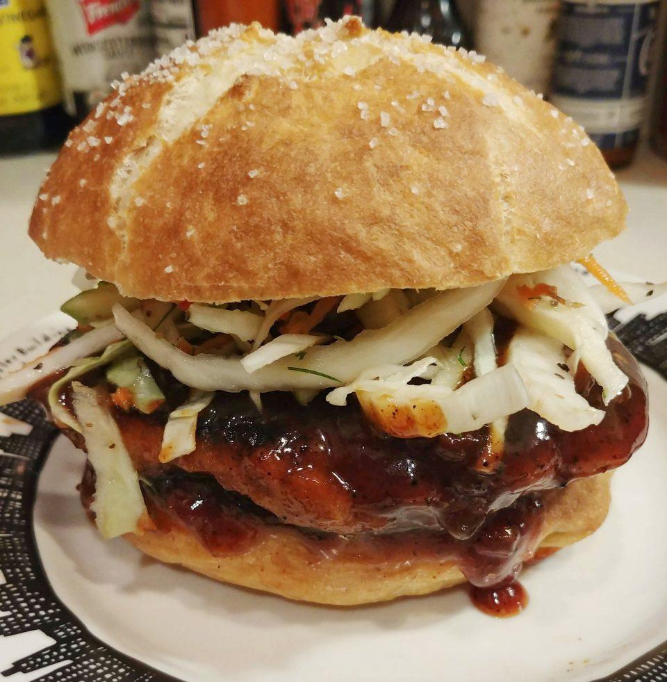 yardbird chickwheat BBQ barbecue sauce sandwich