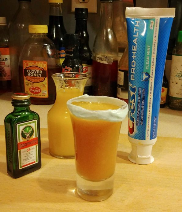 Vomitspit MF DOOM orange juice jagermeister toothpaste