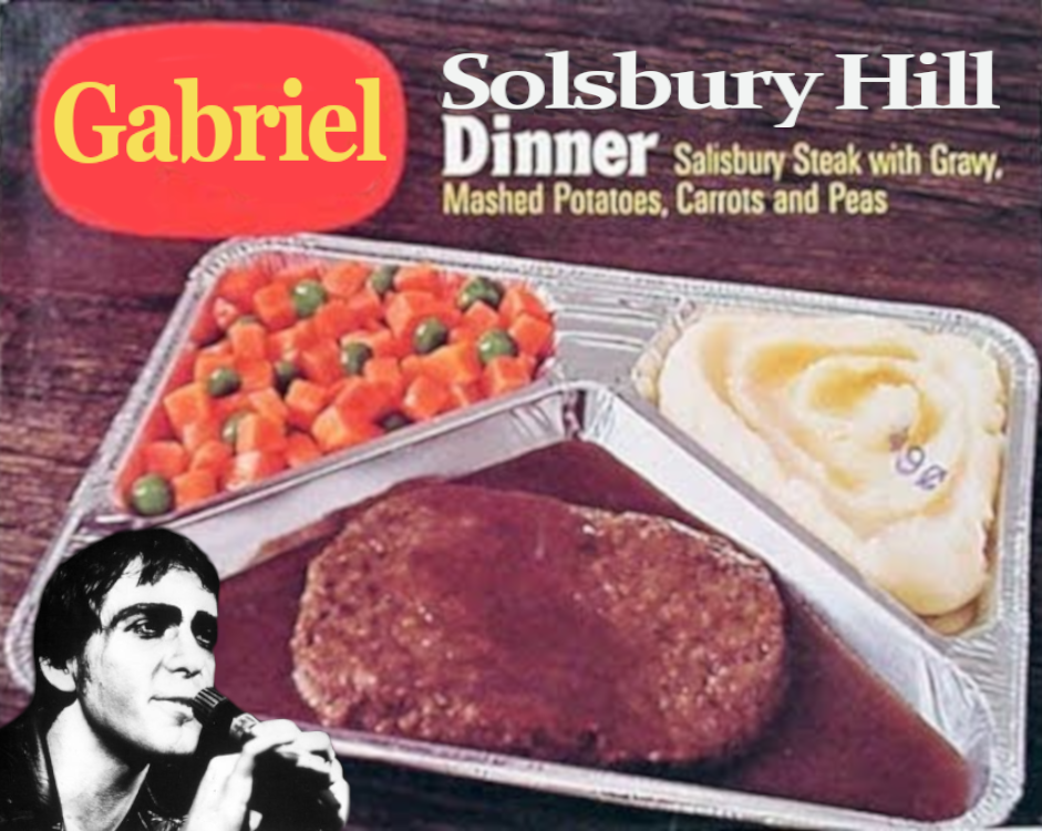 peter gabrial solsbury hill dinner food tv nostalgia